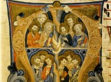 13th Century Illuminated Manuscript showing the 12 apostles