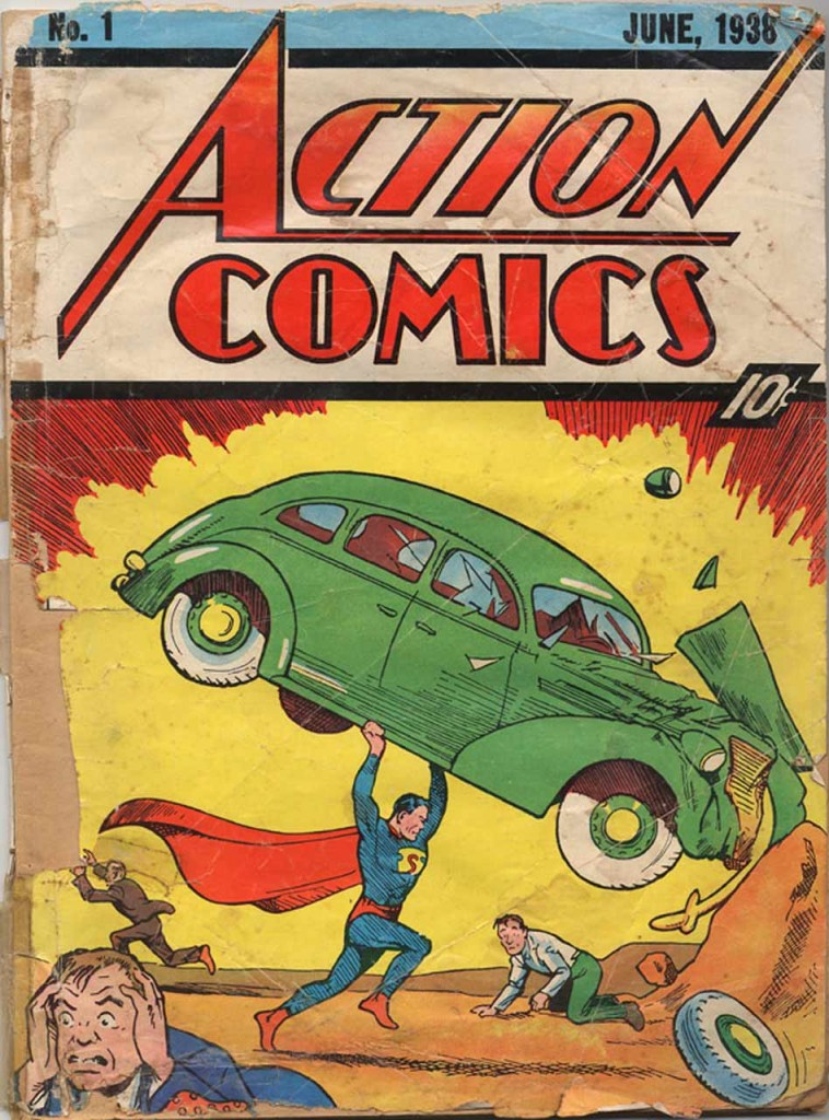 Original Superman Comic Book issued at the Godtype cycle leading to 41.66 Golden years.