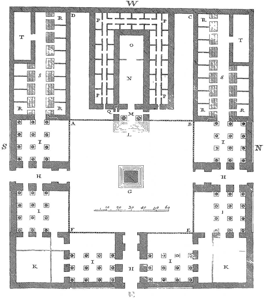 Jerusalem temple illustrations by Newton
